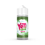 Yeti - Watermelon. Deep in the frozen mountains, thick ice is chiselled away to reveal this luscious watermelon treat. Available in 100ml Shortfill 0mg Nicotine and Salt Nic. E-Liquid from Prohibition®