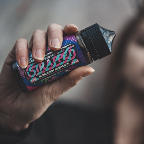Strapped - Bubblegum Drumstick 100ML 0MG-Prohibition Vapes