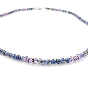AMETHYSTY & IOLITE NECKLACE