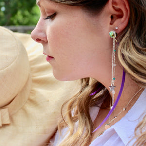 KELTIE FEATHER EARRINGS