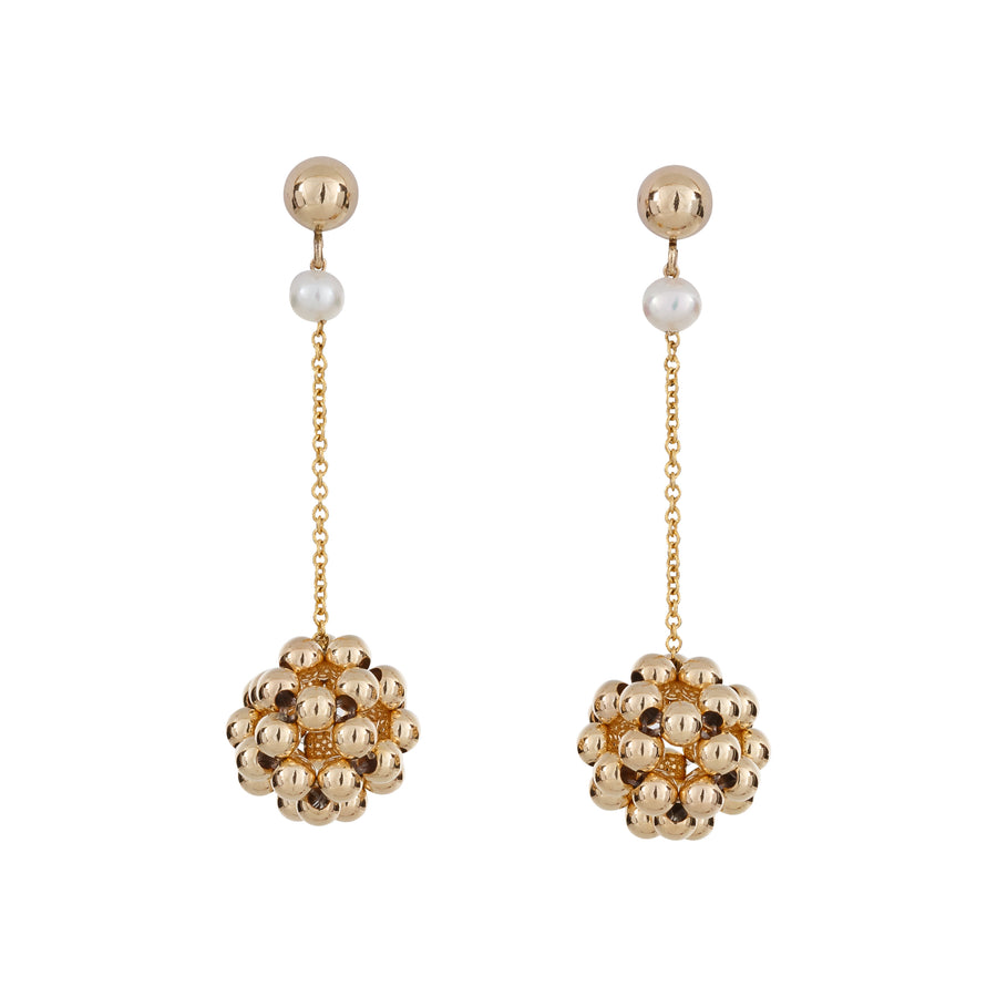 BELLE DROP EARRINGS GOLD