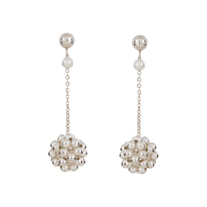 BELLE DROP EARRINGS SILVER