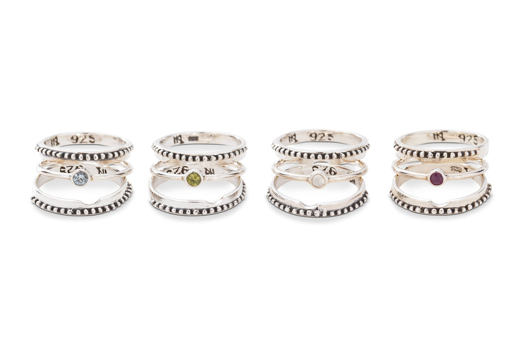 DAISY STACK RING SET