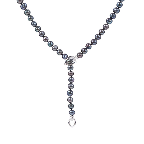 ALIYA BLACK PEARL NECKLACE