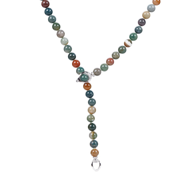 ALIYA MOSS AGATE NECKLACE