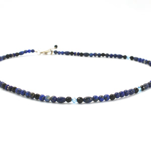 LAPIS & ONYX NECKLACE