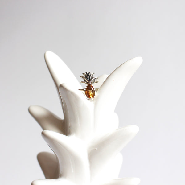 Citrine Pineapple Ring