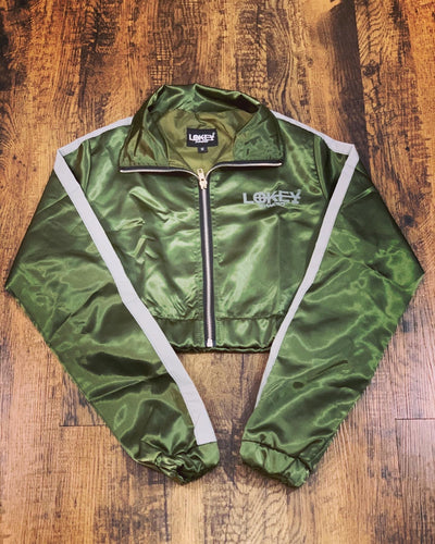 Olive green women's track jacket