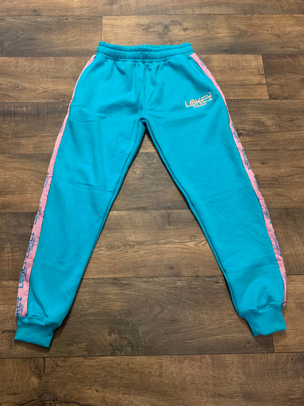 Cotton Candy sweatpants with stripe