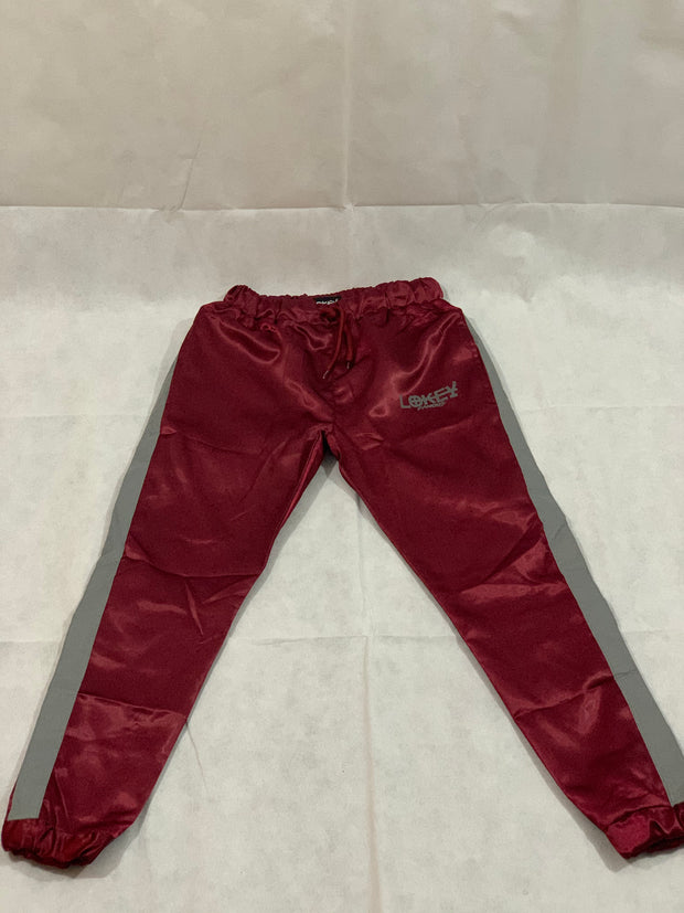 Burgundy women's track pants