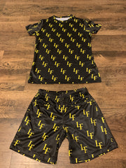 Black and yellow Biker shorts