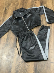Black women's track jacket