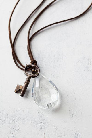 Lucy's Inspired Ann Necklace-Clear/Small