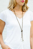 Lucy's Inspired, Clara Necklace-Clear/Gold