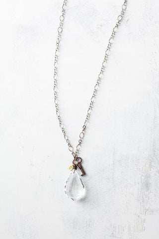 Lucy's Inspired, Ethel Necklace-Clear/Long
