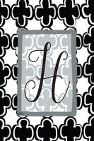 H-Black and White Garden Flag, Magnolia Lane