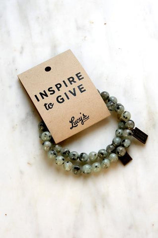 Inspire to Give Beaded Bracelet