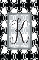 K-Black and White Garden Flag, Magnolia Lane