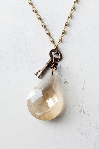 Lucy's Inspired, Ruthie Necklace-Champagne/Long