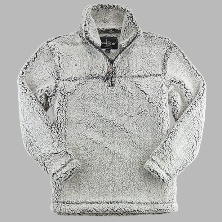 Smoky Grey Sherpa Pullover-Youth