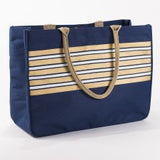 Stripe Glamour Juco Tote in Navy