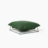 Castella Cushion Bed in Dark Green