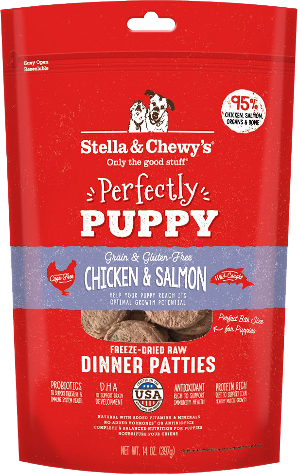 Stella & Chewy's Freeze Dried Chicken & Salmon Dinner Patties for Puppies 14oz