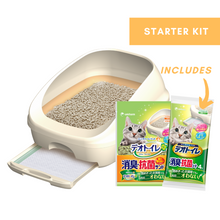 Load image into Gallery viewer, Unicharm DeoToilet Cat Litter Box Starter Kit - Half Dome