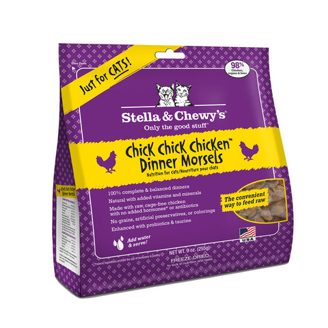 Stella & Chewy's Freeze Dried Chick Chick Chicken Dinner Morsels for Cats 18oz