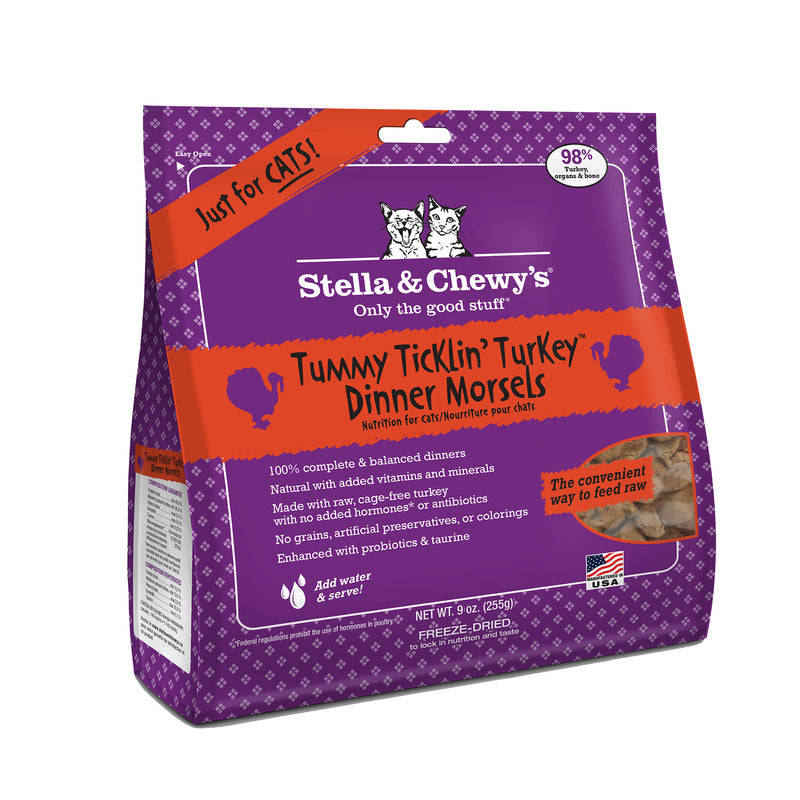 Stella & Chewy's Freeze Dried Tummy Tucklin' Turkey Dinner Morsels for Cats 18oz