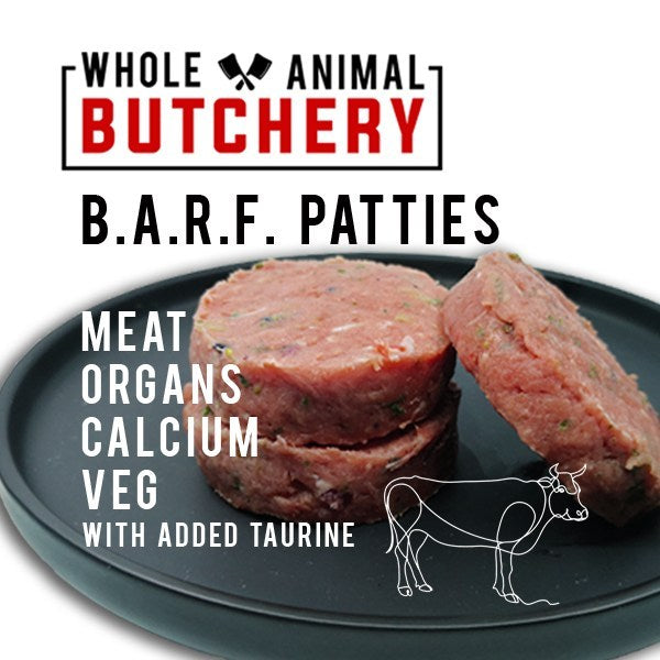 Whole Animal Butchery Frozen BARF Beef Patties