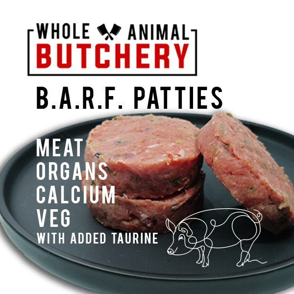 Whole Animal Butchery Frozen BARF Pork Patties