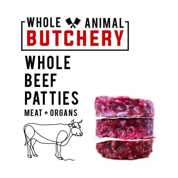 Whole Animal Butchery Frozen Beef Patties