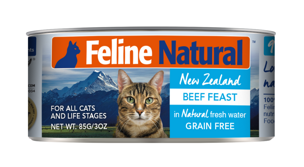 Feline Natural Canned Food - Beef Feast 85g