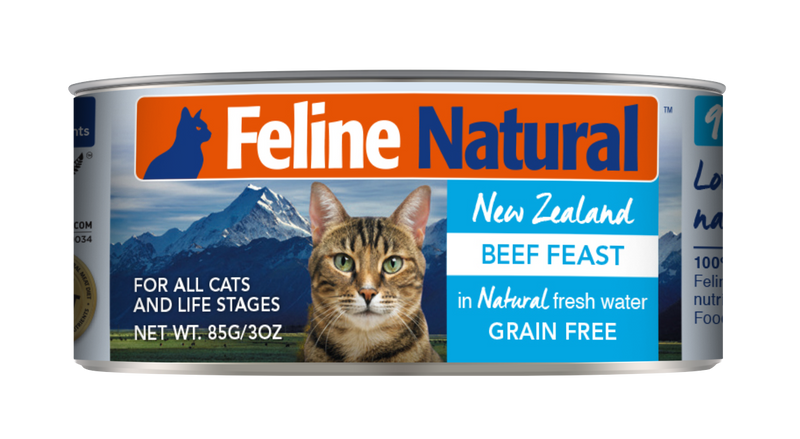Feline Natural Canned Food - Beef Feast 85g / 170g