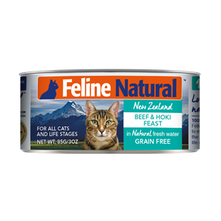Feline Natural Canned Food - Beef & Hoki 85g / 170g