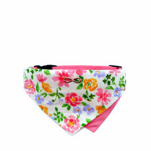 Load image into Gallery viewer, Bowtix Dog Collar with Bandana - Blooming Pink (Medium)