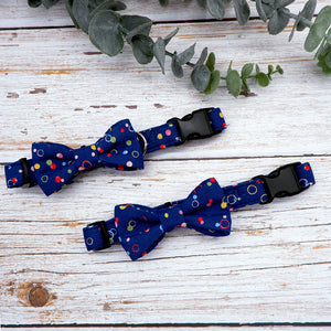 Bowtix Dog Collar with Bowtie - Bubcuzzi (Blue)