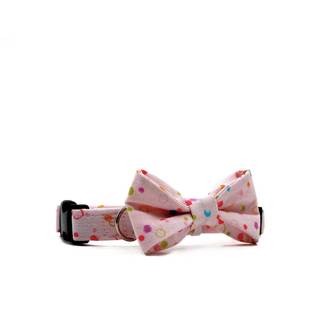 Bowtix Dog Collar with Bowtie - Bubcuzzi (Pink)