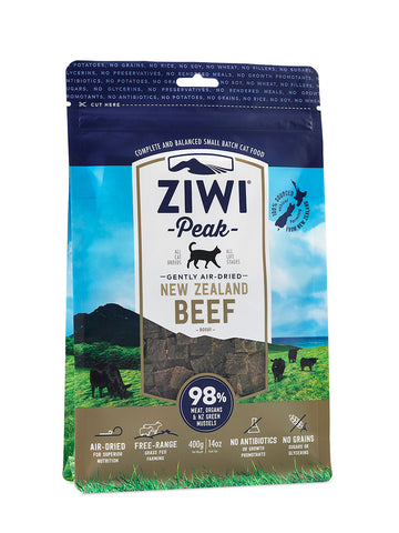 ZiwiPeak Air Dried Beef for Cats 400g