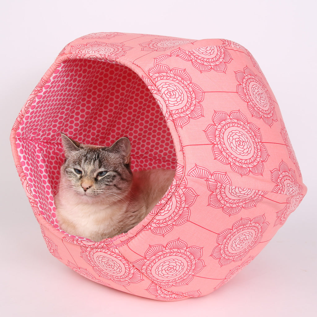 The Cat Ball in Pink Cottage Wallpaper
