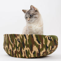 The Cat Canoe in Camouflage