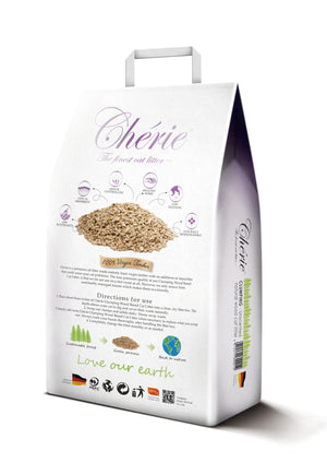 Chérie Unscented Clumping Natural Wood Cat Litter 10L