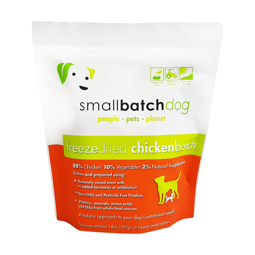 Smallbatch Freeze Dried Chicken Sliders for Dogs