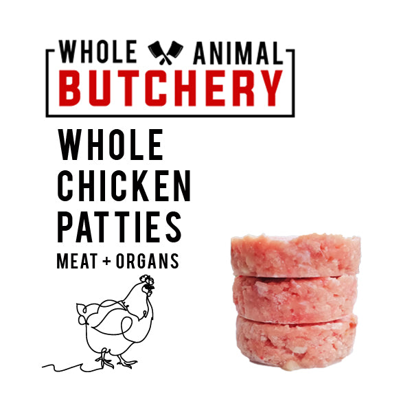 Whole Animal Butchery Frozen Chicken Patties