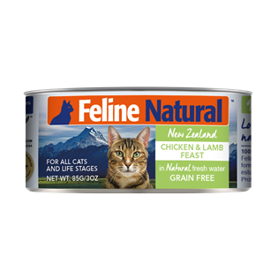 Feline Natural Canned Food - Chicken & Lamb 85g