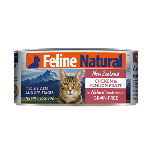Feline Natural Canned Food - Chicken & Venison 85g / 170g