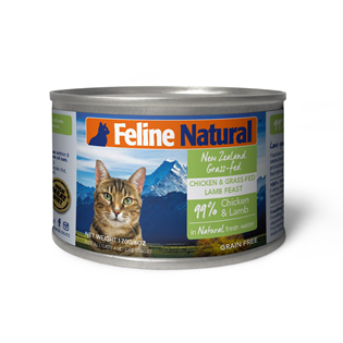 Feline Natural Canned Food - Chicken & Lamb 170g