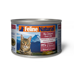 Feline Natural Canned Food - Chicken & Venison 170g
