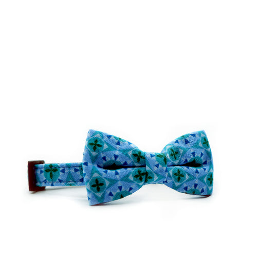 Bowtix Petite Dog Collar with Bowtie - Diamond Prism